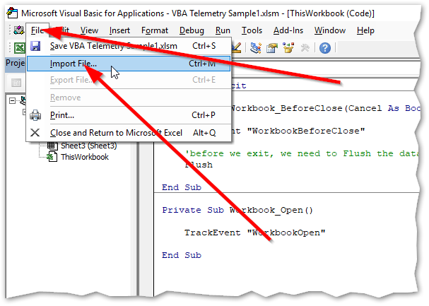 Full Guide: How to setup VBA Telemetry & Azure Application