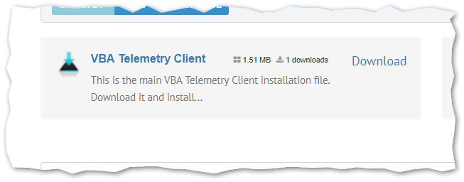 VBA Telemetry Client download